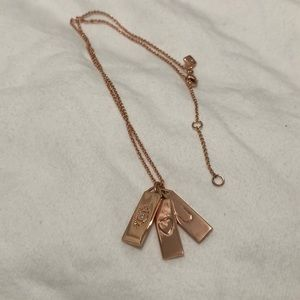Rebecca Minkoff Rose Gold Eye Love You Necklace